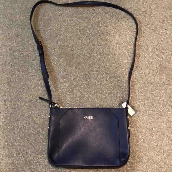 Guess Bags | Navy Blue Leather Crossbody